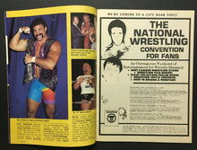 Load image into Gallery viewer, 1987 Wrestling Ringside Magazine Honky Tonk Man Vintage WWF Photos Dingo Warrior