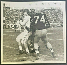 Load image into Gallery viewer, 1950s CFL Football Press Photo Hamilton Tiger Cats Pete Neumann v Red O'Quinn