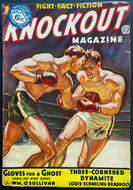1937 Knockout Pulp Magazine Feb Issue Louis Schmelling Braddock Vintage Boxing