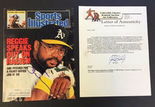 Load image into Gallery viewer, 1987 Cover Sports illustrated Signed Reggie Jackson ]COA Auto Baseball Photo