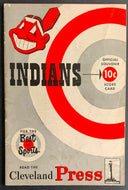 1952 Cleveland Indians Vs New York Yankees Baseball Program Scorecard Vintage