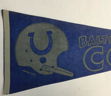 Load image into Gallery viewer, 1960's Baltimore Colts NFL Football Pennant Canteen Corp Vintage Sports Logo