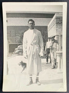 Vintage Type 1 Original Photo Boxing Champion Joe Louis Outside Training Camp