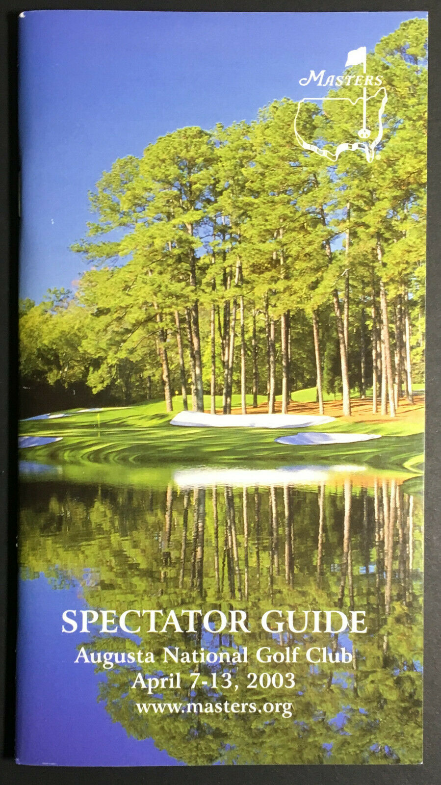 2003 Augusta National Golf Club Spectator Media Guide Masters Tiger Woods
