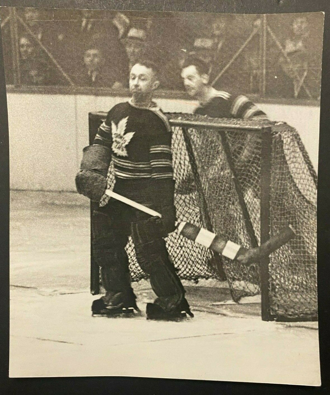 1935 Vintage NHL Type 1 Photo Toronto Maple Leafs Hockey HOF George Hainsworth