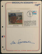 1988 Don Newcombe Autographed Signed Brooklyn Dodgers 1st Day Cover Envelope MLB