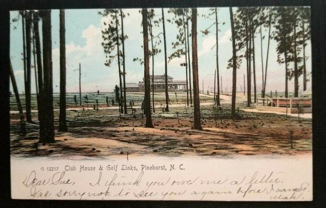Very Rare Circa 1900 Pinehurst NC Golf Posted Photo Postcard Vintage