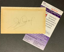 Load image into Gallery viewer, James Cagney Autographed Index Card Signed Vtg Actor Movie Star JSA COA