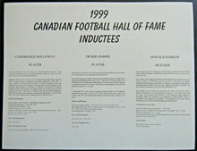 Load image into Gallery viewer, 1999 CFL Football Hall Of Fame Inductee Autographs - Holloway Harris Barker HOF