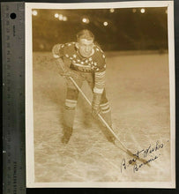 Load image into Gallery viewer, 1930 NHL Hockey Vtg Photo Signed New York Americans Roy Burmister Autographed