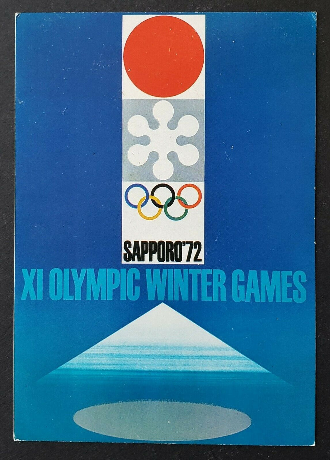 1972 Sapporo XI Winter Olympic Games First Day Cover Postcard - Hockey Stamp VTG