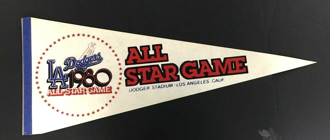 1980 MLB Baseball All Star Game Pennant Dodgers Stadium Los Angeles California