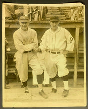 Load image into Gallery viewer, 1927 World Series Murderers Row Press Photo Miller Huggins & Donie Bush Yankees