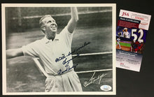 Load image into Gallery viewer, Don Budge Autographed Photo Champion Tennis Player Signed JSA COA