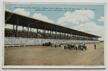 Load image into Gallery viewer, 1915 Vintage Chicago Speedway Postcard - Dario Resto 100 Mile Challenge Race