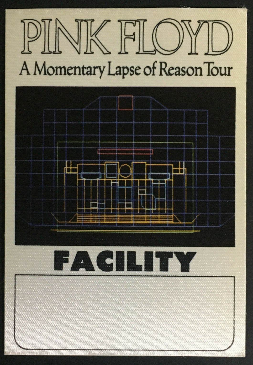 1987 Pink Floyd A Momentary Laps Of Reason Concert Tour Satin Decal Sticker