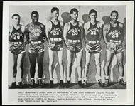 1939 Pasadena Junior College Basketball Photo Jackie Robinson MLB Baseball HOFer