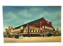 Load image into Gallery viewer, 1940's Chicago Arena Postcard Home Of Famous Ice Shows And Water Carnivals