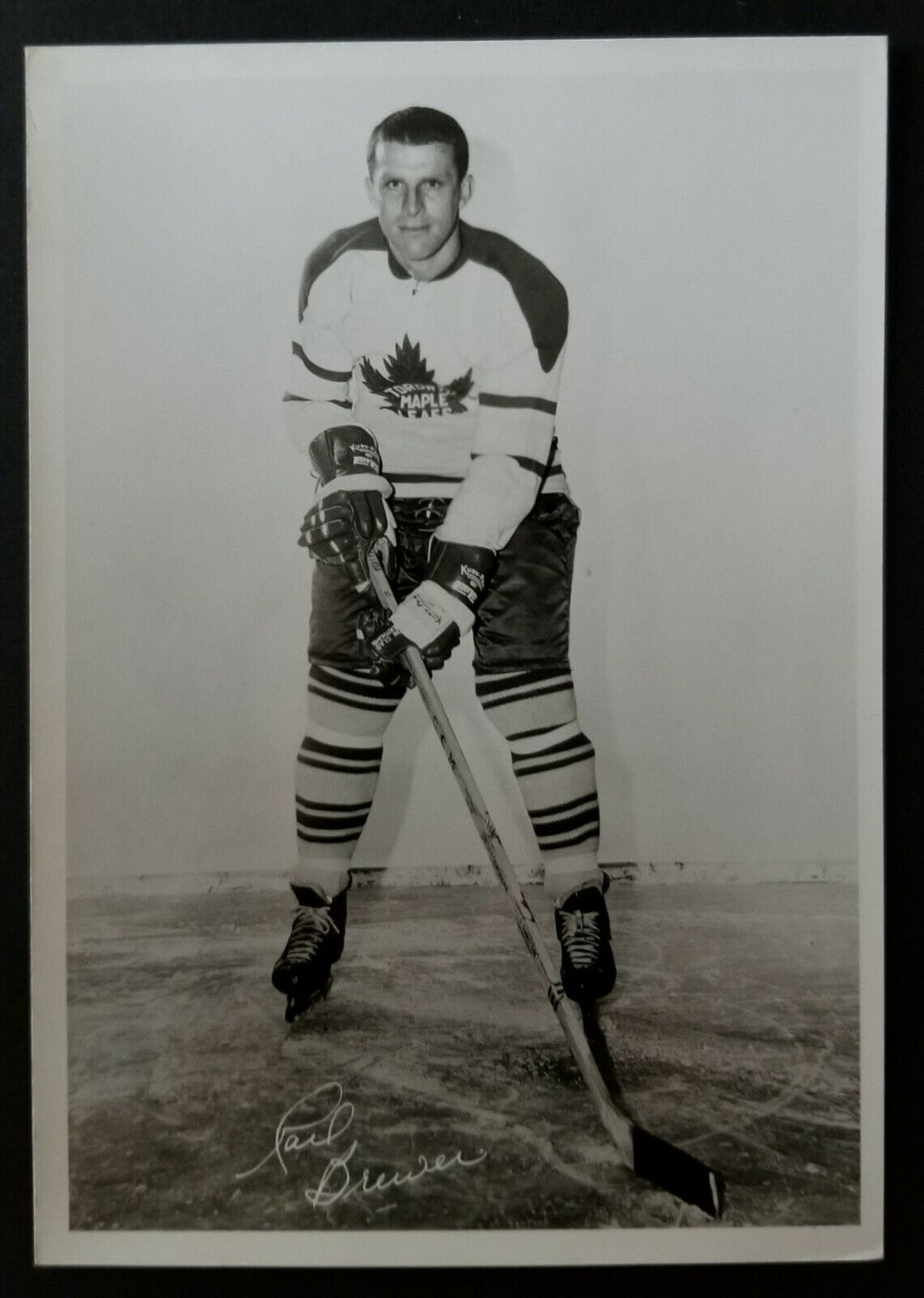 1963-64 Toronto Maple Leafs Photo Carl Brewer Vintage Sold at Maple Leaf Gardens