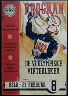 1952 Winter Olympics Program Oslo Norway Edmonton Mercurys Men's Ice Hockey