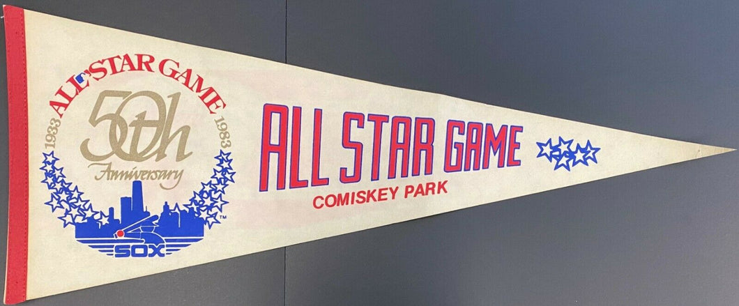 983 MLB All Star Game 50th Anniversary Baseball Pennant Vintage White Sox