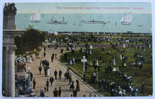 Load image into Gallery viewer, Circa 1910 Vintage Toronto Exhibition (CNE) Postcard - Terrace On The Lake Front
