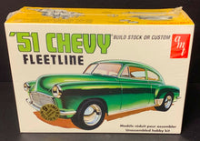 Load image into Gallery viewer, AMT 1951 Chevy Fleetline Scale 1:25 Model Car Kit Vintage Factory Sealed
