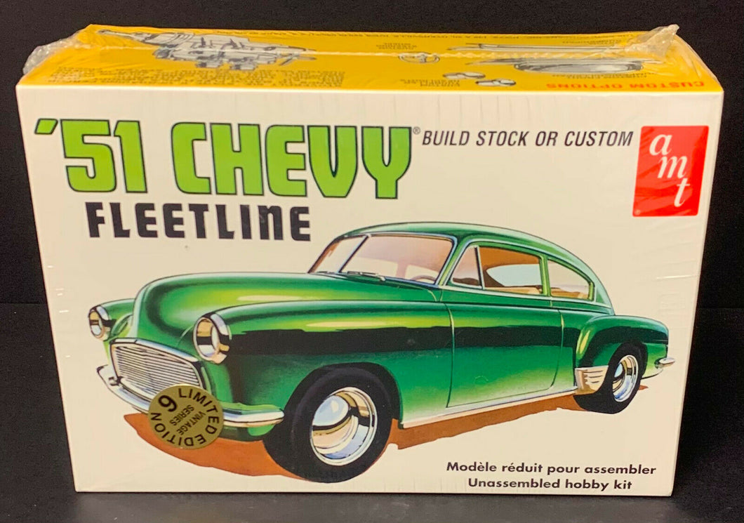 AMT 1951 Chevy Fleetline Scale 1:25 Model Car Kit Vintage Factory Sealed