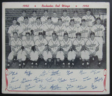 Load image into Gallery viewer, 1952 Vintage Rochester Red Wings Baseball Team Photo International League