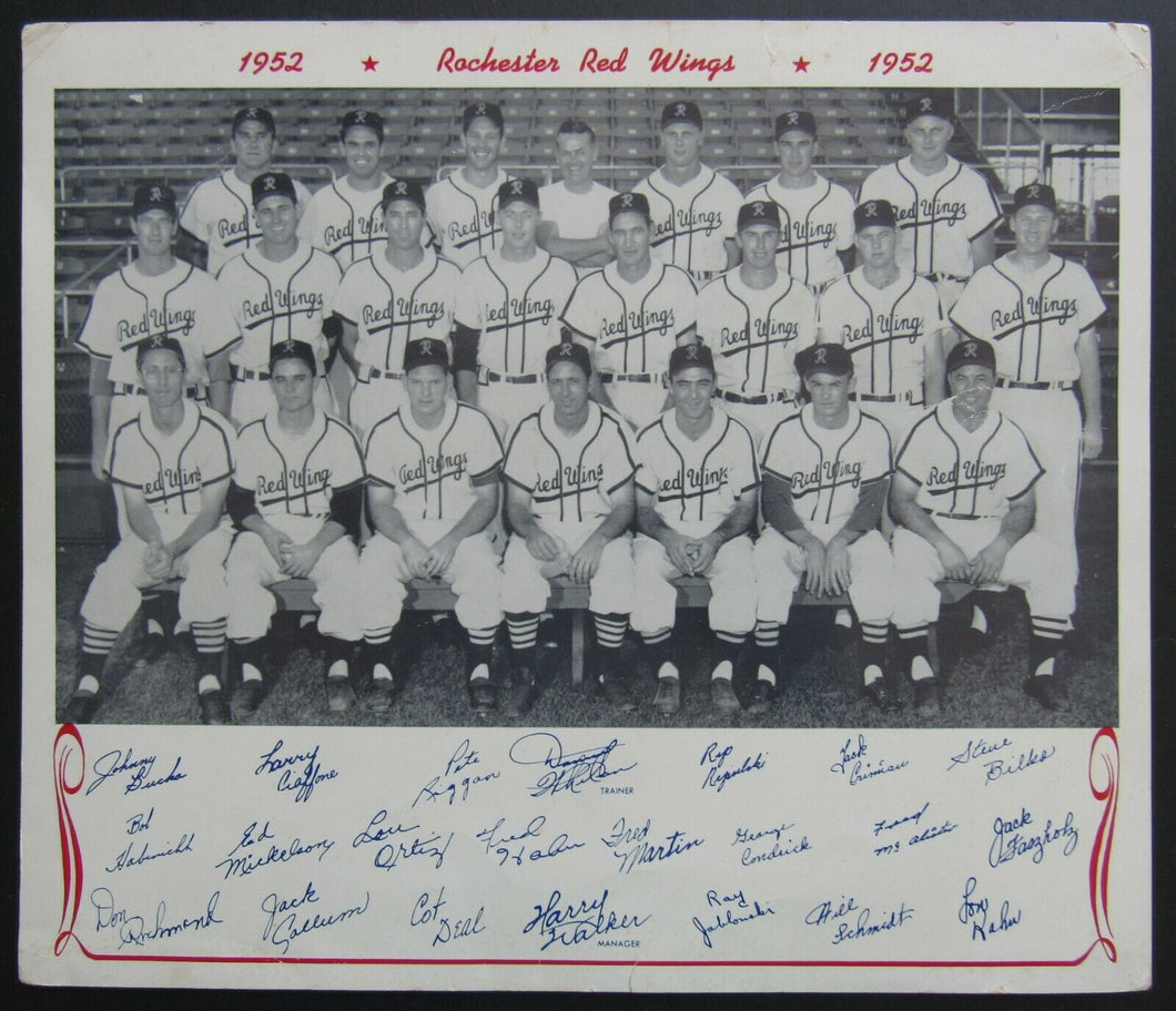 1952 Vintage Rochester Red Wings Baseball Team Photo International League