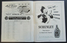 Load image into Gallery viewer, 1947 Chicago Stadium Rare NHL Program Chicago Blackhawks vs Toronto Maple Leafs
