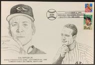 1995 Cal Ripken JR. 2131 Consecutive Game Streak 1st Day Cover Lou Gehrig Stamp