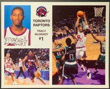 Load image into Gallery viewer, Toronto Raptors Tracy McGrady #1 Composite Photo Sheet NBA Basketball