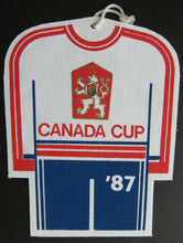 Load image into Gallery viewer, 1987 Canada Cup Series - Team Czechoslovakia Cloth Banner Pennant Door Hanger