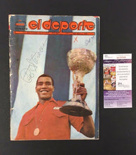 Load image into Gallery viewer, 1972 Teofilo Stevenson Auto Cuban Publication Of Performance In Olympics JSA