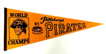 Load image into Gallery viewer, 1970 Pittsburgh Pirates Baseball Pennant World Champs Three Rivers Stadium 29""