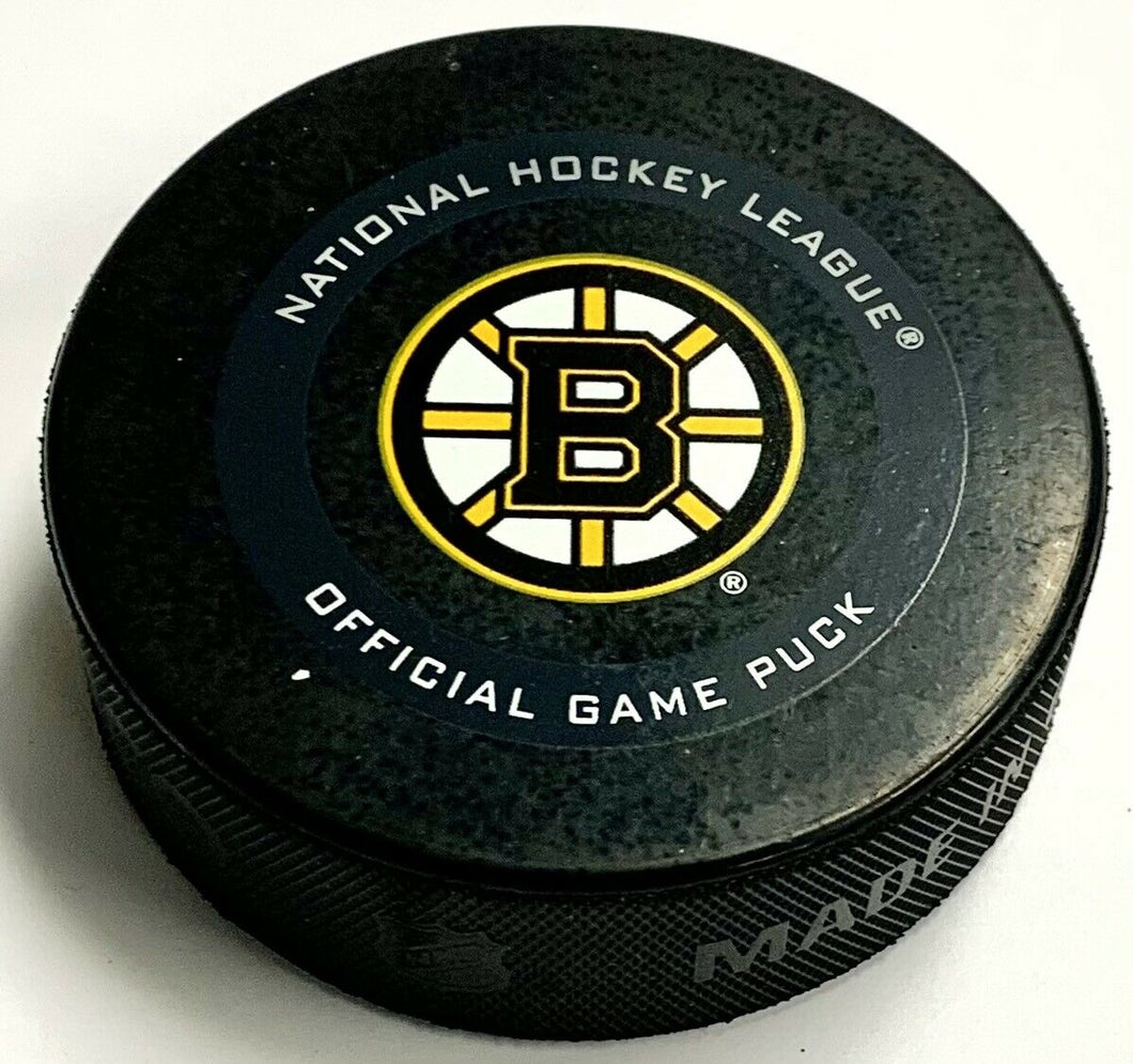 2020 Bruins Game Used Playoff Puck Thermochromic Coating Color Changing NHL