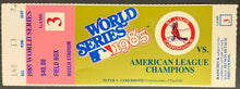 Load image into Gallery viewer, 1985 World Series Game 3 Ticket Kansas City Royals v St. Louis Cardinals MLB
