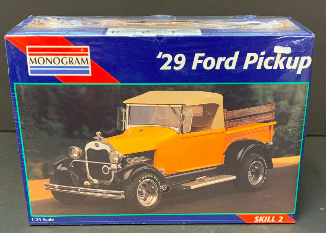Monogram 29' Ford Roadster Pickup 1:24 #7555 Model Kit 1929 Pick Up Yellow