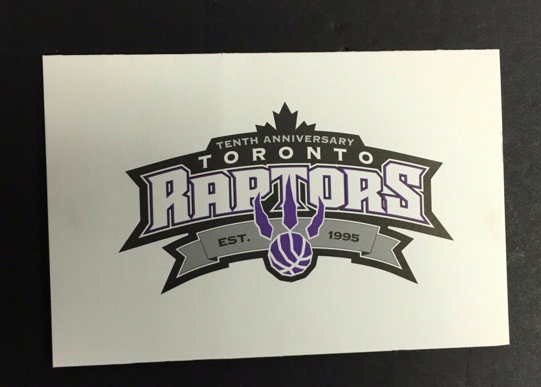 2004 Toronto Raptors 10th Anniversary NBA Basketball Card Maple Leaf Sports