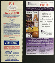 Load image into Gallery viewer, 1993 Nolan Ryan Signed Ticket Texas Rangers Last Season MLB Minnesota Twins JSA