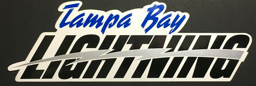 Tampa Bay Lightning NHL Hockey Bumper Sticker Decal Vintage Unused
