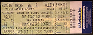 2002 Tragically Hip Unused Concert Ticket Music Toronto Hummingbird Centre
