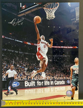 Load image into Gallery viewer, TJ Ford Authentic Signed NBA Photo Toronto Raptors Basketball Autograph 14x11