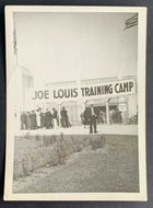 Vintage Type 1 Original Photo Joe Louis Training Camp Champion Boxer