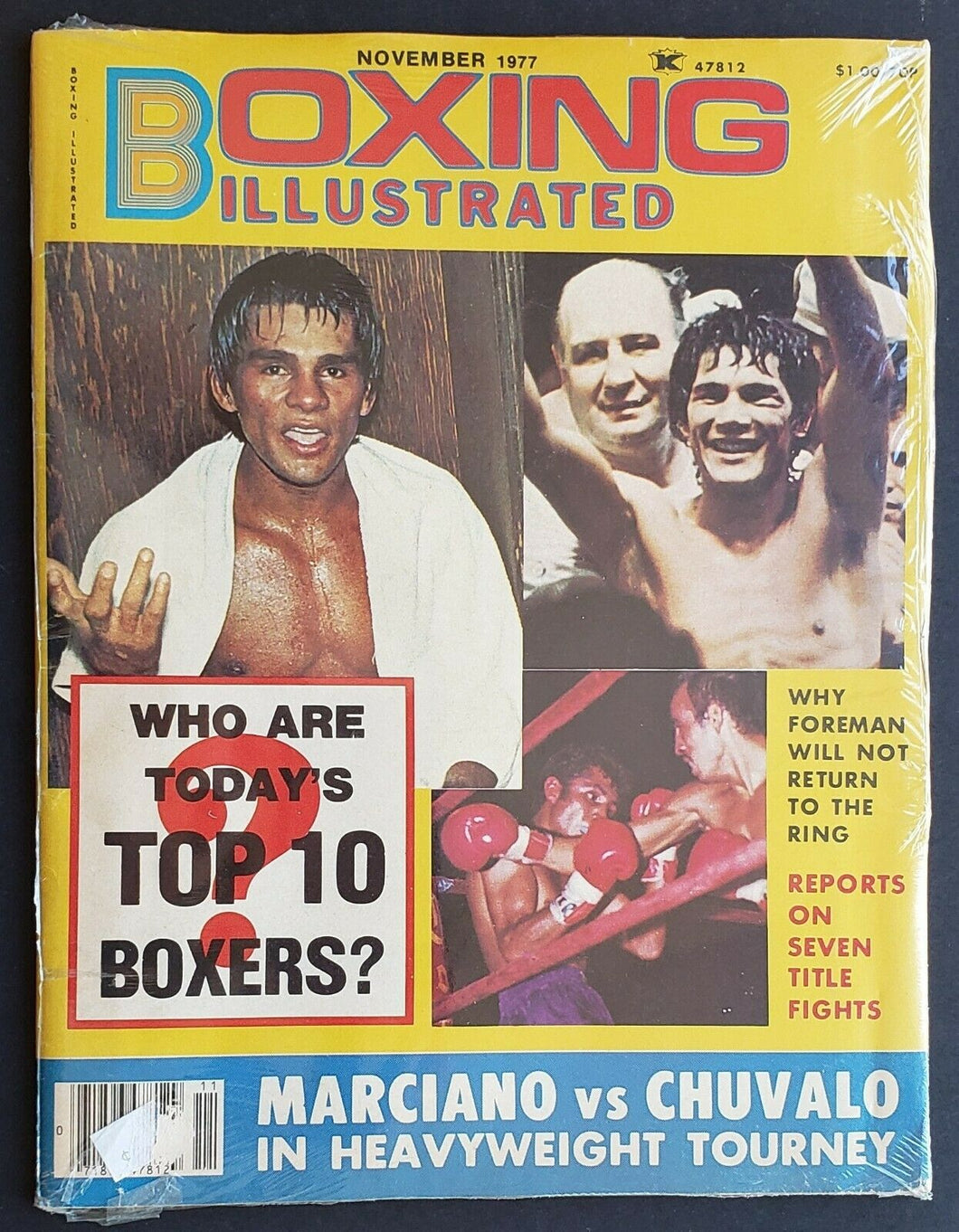 1977 Boxing Illustrated Magazine Who Are Today's Top 10 Boxers Marciano Chuvalo