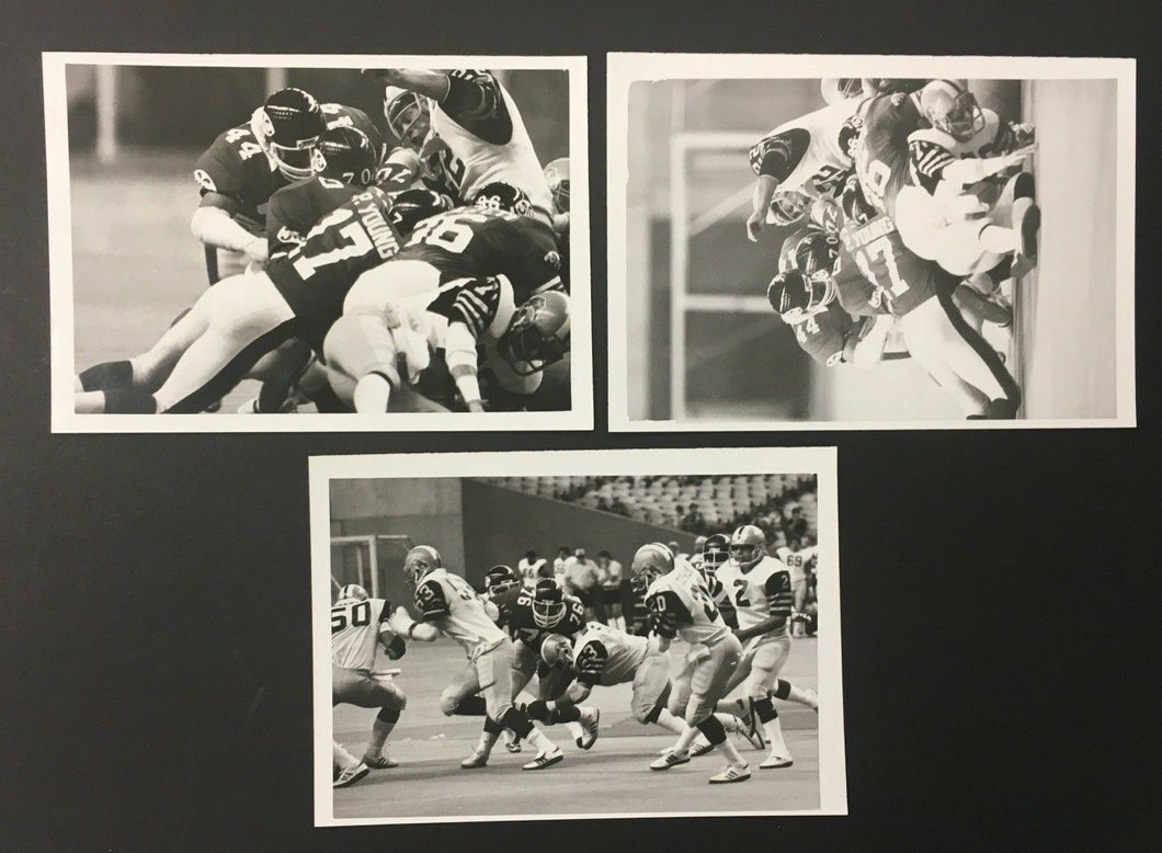 1983 Montreal Concordes Vs Hamilton Tiger-Cats CFL Denis Brodeur 3 Press Photos