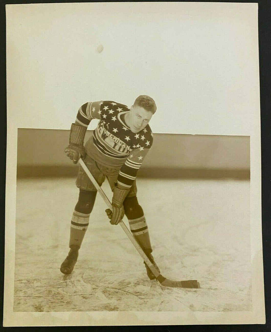 1926 NHL Hockey Vintage Photo Laurie Scott New York Americans