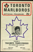 Load image into Gallery viewer, 1969 Toronto Marlboros Official Vintage Hockey Program Ottawa 67's