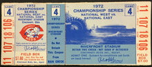 Load image into Gallery viewer, 1972 NLCS Game 4 MLB Baseball Ticket Reds v Pirates Roberto Clemente Final HR